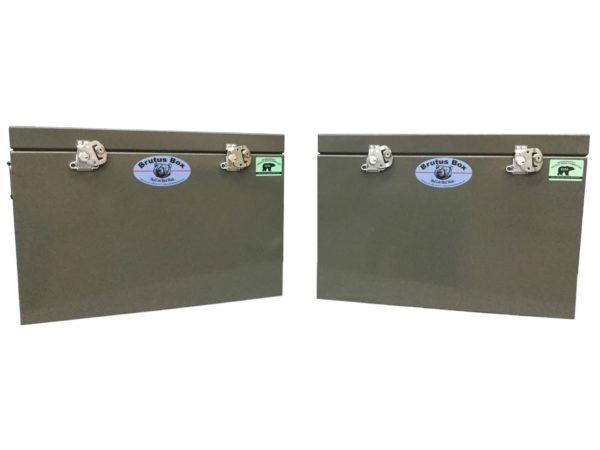 Aluminum dry box panniers